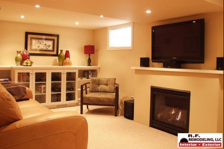 RF Remodeling Simple Basement Remodeler Set Interior